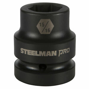 Steelman Pro 79337 1 Inch Drive X 15 16 Inch 6 Point Impact Socket