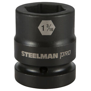 Steelman Pro 79338 1 Inch Drive X 1 3 16 Inch 6 Point Impact Socket
