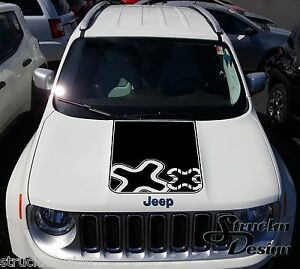 Jeep Renegade Hood Logo Graphic Vinyl Decal Sticker Side Reflective Camo