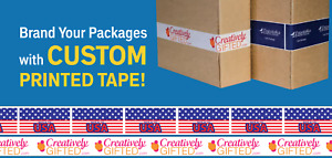 Printed Packing Tape Custom Shipping 36 Rolls 2 X 55 Yd Brand Box Security