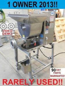 2013 Biro Mini 32 Commercial Butcher Shop Hamburger Meat Grinder Mixer Extruder