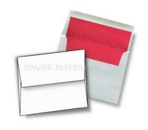 Superfine Ultrawhite A6 4 3 4 x 6 1 2 Red Foil Lined Envelopes 250 pk 104 Gs