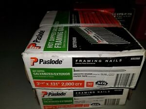Paslode 650388 Hot Dipped Galvanized exterior Framing Nails 4000 Count 2 Boxes