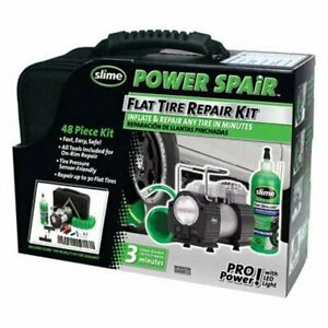 Slime 70004 Power Spair Tire Repair Kit 48 piece Set