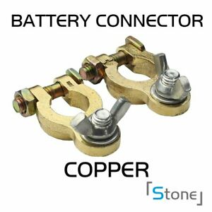 Pair Car Truck Parts Battery Terminal Charger Connector Pure Copper Universal