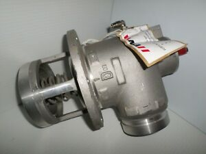 New Emco Wheaton Internal Air Operated Emergency Valve 90 Degree Elbow