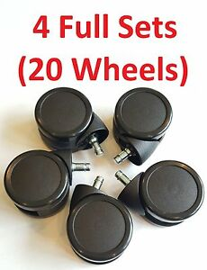 4 Sets 20 Wheels Of New 3 Inch Office Chair Caster Wheels Quality Steelcase