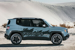 Jeep Renegade Side Splash Splatter Logo Graphic Vinyl Decal Hood Graphic