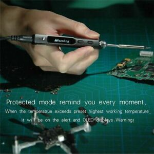 Digital Lcd Electronic Soldering Iron Programmable Adjustable Plastic Handle