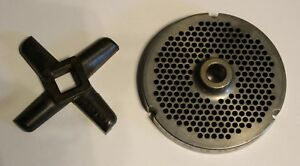 Used 32 Hubbed Kasco Never Sold 3248 f Meat Grinder Plate Knife