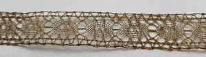 Vintage Gold Metallic Lace Trim Repeating Oval Design 9 99 P Yard French