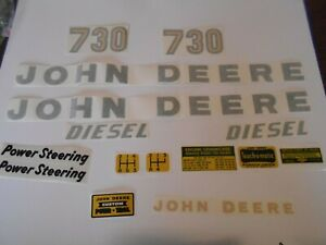 John Deere Model 730 Diesel Tractor Decal Set