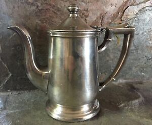 Vintage International Silver 09c 8 Oz Thick Heavy Silverplate Coffee Pot Creamer