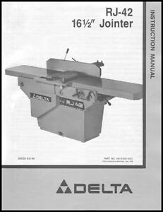 Delta Rj 42 Jointer Instruction Manual 16 1 2 Inch