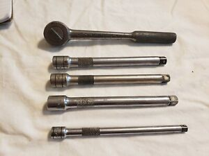 S k 3 8 Dr Round Head Ratchet With 4 Extensions