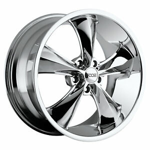 4 New 17x8 Foose Legend Chrome Wheel Rim 5x120 7 5 120 7 17 8