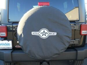 Jeep Wrangler 2012 2013 Oscar Mike Spare Tire Covers Cover 32 255 75 17 Mopar