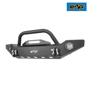 Eag Led Front Bumper W Light Frames Steel Fit For 87 06 Jeep Wrangler Yj Tj