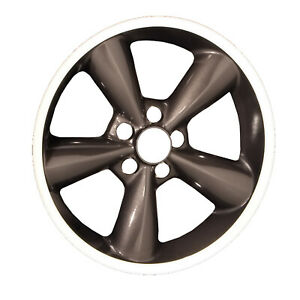 03648 Refinished 18in Wheel Fits 2006 2009 Ford Mustang Charcoal W machined Lip