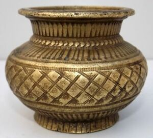 Old Hand Engraved Design Brass Water Pot Antique Shape Islamic Water Pot Lota