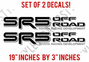 Sr5 Truck Off Road 4x4 Toyota Racing Trd Tacoma Decal Vinyl Stickers Pair
