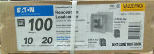 Eaton 100 Amp Fuse Box Renovation Replacement Load Center Pack Br1020b100frnv