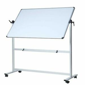 Viz pro Double sided Magnetic Mobile Whiteboard 60 X 48 Inches With Stand