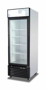 New Migali Single Glass Door Reach in Cooler 28 C 23rm Free Shipping