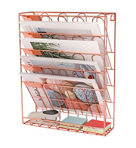 Superbpag Hanging File Organizer 6 Tier Wall Mount Document Letter Tray File