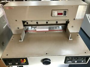 Triumph Model 5221 90 mbm Electric Paper Cutter 20 5 4 Extra Blades