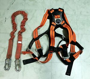 Safewaze Ameba 1410 L xl Safety Harness With 6 Ft Shock Absorbing Lanyard