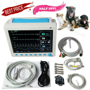 Veterinary Icu Patient Monitor Vet Vital Signs Monitor Color 7 Parameters Usa