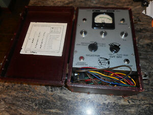 Vintage B K Model 350 Cathode Rejuvenator Tester w instruction Sheet