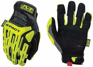 Mechanix Wear Hi viz M pact Cut Resistant E5 Gloves large Black fluorescent