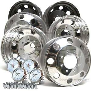 Ford F350 2005 current Drw 19 5 Polished Aluminum Direct Bolt On Full Wheel Set