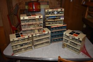 Vtg Store Display Cabinet Parts Boxes Capacitor Ge 60 S 50 S Industrial