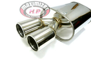 High Performance Universal Mx014 2 5 Inlet Dual Tip Muffler By Maximizer