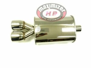 Stainless Steel Universal Dual Tip 2 5 Inlet Mx016 Round Muffler By Maximizer