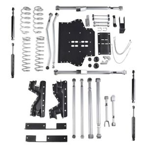 Rubicon Re7204t 4 5 Inch Extreme Duty Long Arm Lift Kit For 97 02 Jeep Tj