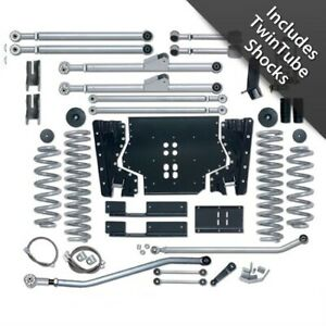 Rubicon Re7203t 3 5 Inch Extreme Duty Long Arm Lift Kit For 97 02 Jeep Tj