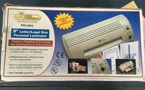 Royal Sovereign Rpa 5954 9 Letter legal Size Personal Laminator New
