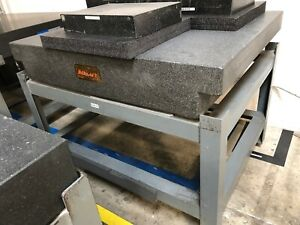 Mojave Granite Surface Plate 36 X 48 X 8 W Stand Grade A Calibrated