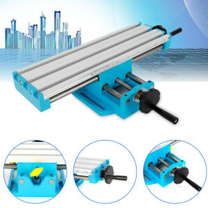 Mini Milling Machine Working Table X Y Axis Cross Slide Bench Drill Vise Aluminu