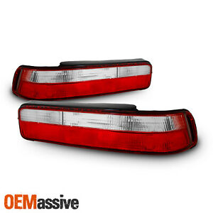 Fits 90 93 Acura Integra 2dr Coupe Red Clear Tail Brake Lights Lamps Left right