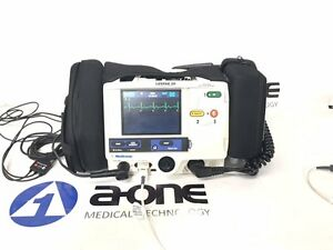 Physio control Lifepak 20 Biphasic 3 Lead Ecg Spo2 Pacing Analyze Paddles