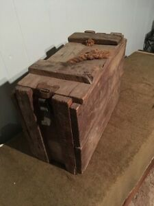 Vintage Military Wooden Ammo Explosive Box