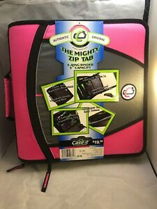 Case it The Open Tab Binders 3 Ring 3 Inch Capacity Pink