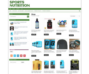 Sports Nutrition Website With One Years Hosting New Domain Ecommerce