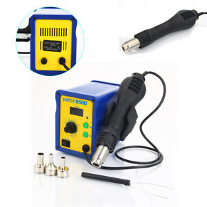110v 2in1 858d Smd Rework Soldering Station Hot Air Gun Desoldering Tool Welder