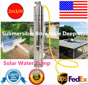 Submersible Bore Hole Deep Well Controller Solar Water Pump 12v 2m h 20m Usa